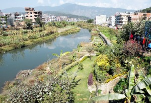 Bagmati River flowing through Kathmandu