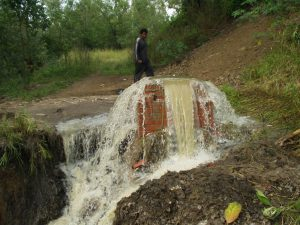 Sewage discharging directly into the Msunduzi River (photograph courtesy of DUCT)