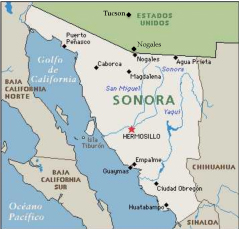 Mapa de Sonora