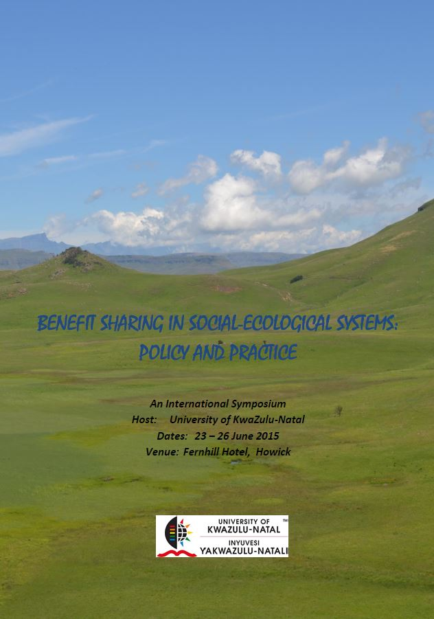 Benefit Sharing in Social-Ecological Systems event