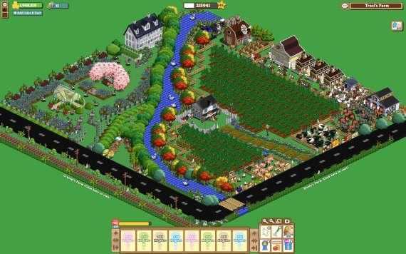 Farmville-style 3D visualisation, developed during 2012-13